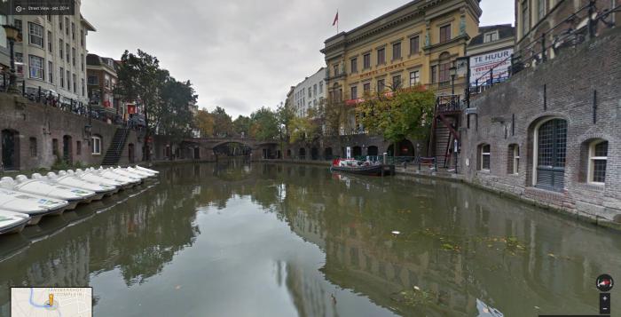 Utrechtse Grachten te zien via Google Street View