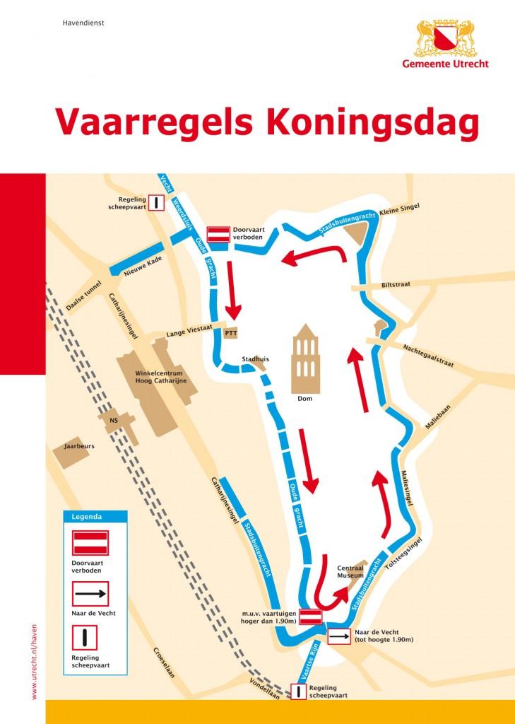 Koningsdag Vaarregels 2016 Utrecht