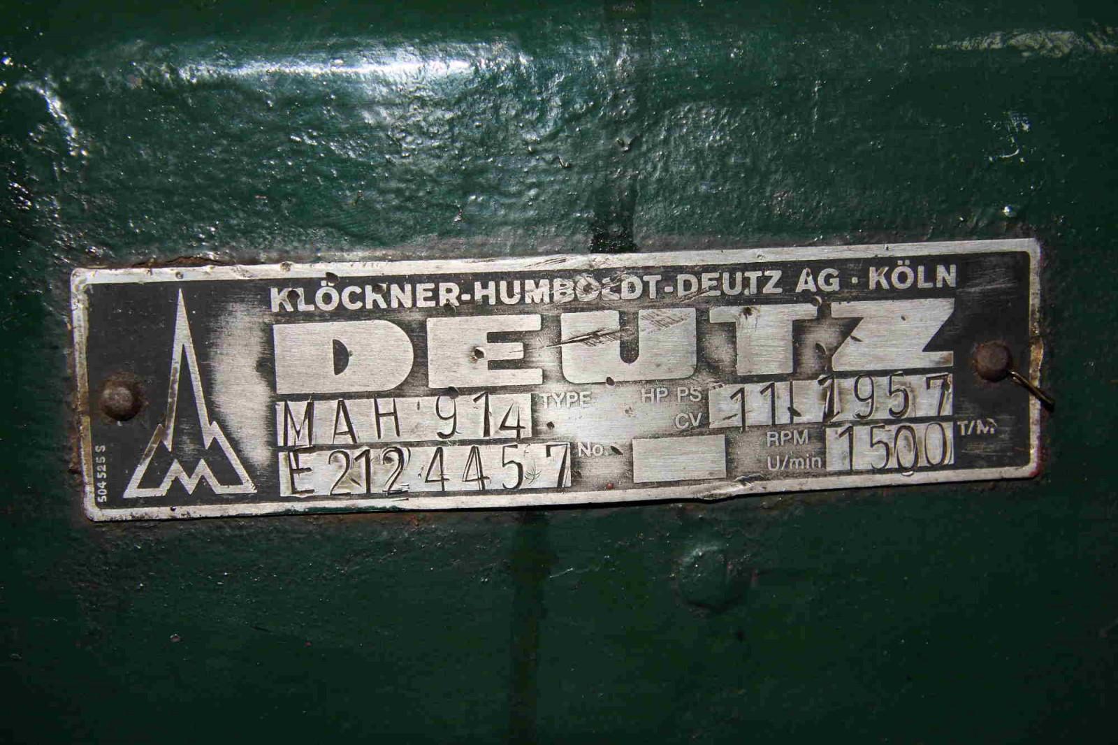 deutz-nummerplaatje